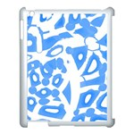 Blue summer design Apple iPad 3/4 Case (White) Front