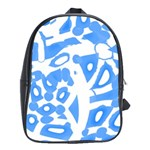 Blue summer design School Bags (XL)