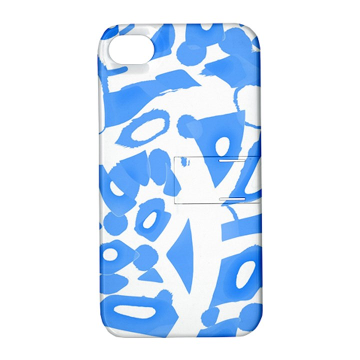 Blue summer design Apple iPhone 4/4S Hardshell Case with Stand