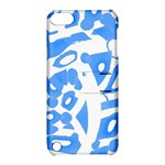 Blue summer design Apple iPod Touch 5 Hardshell Case with Stand