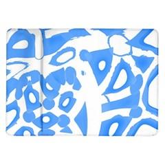 Blue summer design Samsung Galaxy Tab 10.1  P7500 Flip Case