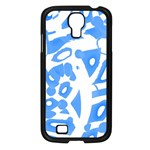 Blue summer design Samsung Galaxy S4 I9500/ I9505 Case (Black)