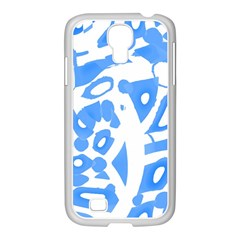 Blue Summer Design Samsung Galaxy S4 I9500/ I9505 Case (white)