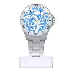 Blue summer design Plastic Nurses Watch