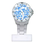 Blue summer design Plastic Nurses Watch