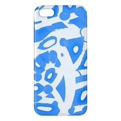 Blue summer design iPhone 5S/ SE Premium Hardshell Case