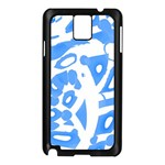 Blue summer design Samsung Galaxy Note 3 N9005 Case (Black)