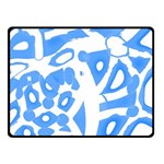 Blue summer design Double Sided Fleece Blanket (Small)
