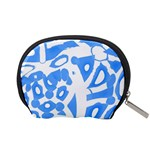 Blue summer design Accessory Pouches (Small)  Back