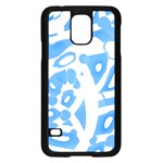 Blue summer design Samsung Galaxy S5 Case (Black)