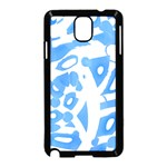 Blue summer design Samsung Galaxy Note 3 Neo Hardshell Case (Black)
