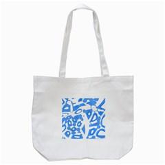 Blue summer design Tote Bag (White)