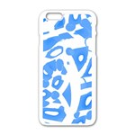 Blue summer design Apple iPhone 6/6S White Enamel Case