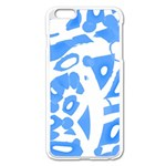 Blue summer design Apple iPhone 6 Plus/6S Plus Enamel White Case Front