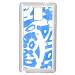 Blue summer design Samsung Galaxy Note 4 Case (White)