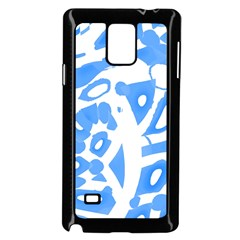Blue summer design Samsung Galaxy Note 4 Case (Black)
