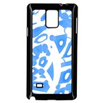 Blue summer design Samsung Galaxy Note 4 Case (Black)