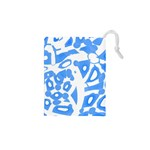 Blue summer design Drawstring Pouches (XS)