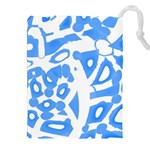 Blue summer design Drawstring Pouches (XXL)