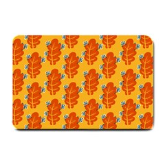 Bugs Eat Autumn Leaf Pattern Small Doormat