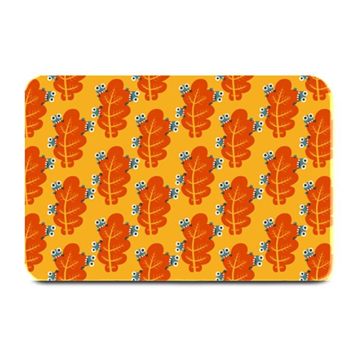 Bugs Eat Autumn Leaf Pattern Plate Mats