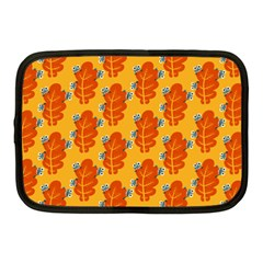 Bugs Eat Autumn Leaf Pattern Netbook Case (medium)  by CreaturesStore