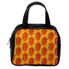 Bugs Eat Autumn Leaf Pattern Classic Handbags (one Side)