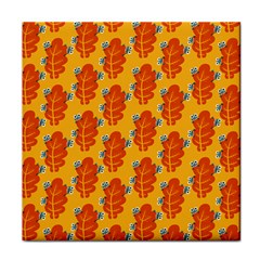 Bugs Eat Autumn Leaf Pattern Face Towel by CreaturesStore
