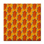 Bugs Eat Autumn Leaf Pattern Face Towel Front