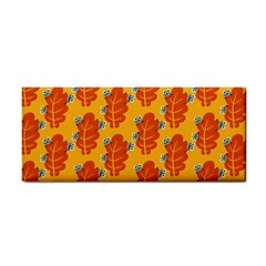 Bugs Eat Autumn Leaf Pattern Hand Towel by CreaturesStore