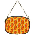 Bugs Eat Autumn Leaf Pattern Chain Purses (Two Sides)  Back