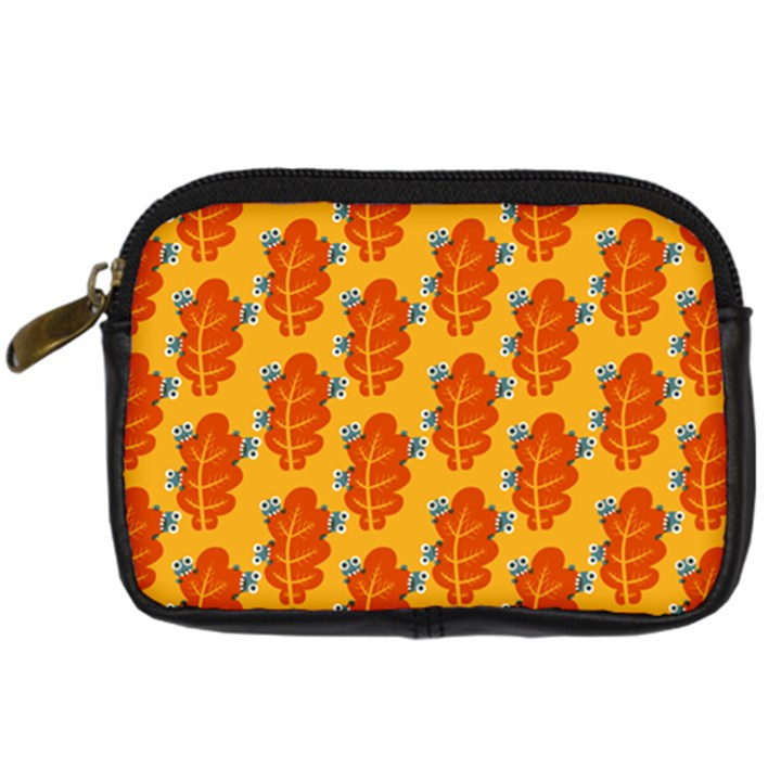 Bugs Eat Autumn Leaf Pattern Digital Camera Cases