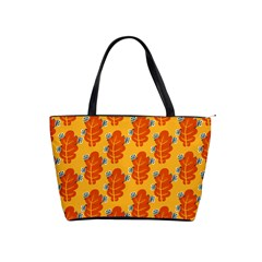 Bugs Eat Autumn Leaf Pattern Shoulder Handbags