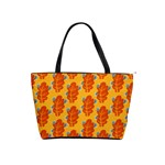 Bugs Eat Autumn Leaf Pattern Shoulder Handbags Front