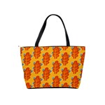 Bugs Eat Autumn Leaf Pattern Shoulder Handbags Back