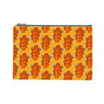 Bugs Eat Autumn Leaf Pattern Cosmetic Bag (Large)  Front