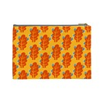 Bugs Eat Autumn Leaf Pattern Cosmetic Bag (Large)  Back
