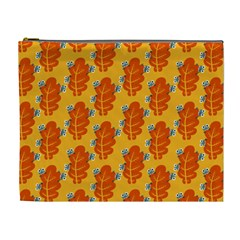 Bugs Eat Autumn Leaf Pattern Cosmetic Bag (xl)