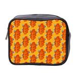 Bugs Eat Autumn Leaf Pattern Mini Toiletries Bag 2-Side Front