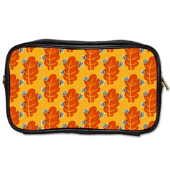 Bugs Eat Autumn Leaf Pattern Toiletries Bags by CreaturesStore