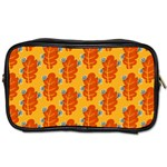 Bugs Eat Autumn Leaf Pattern Toiletries Bags 2-Side Front
