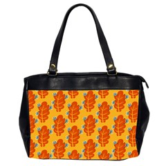 Bugs Eat Autumn Leaf Pattern Office Handbags (2 Sides)  by CreaturesStore