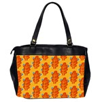 Bugs Eat Autumn Leaf Pattern Office Handbags (2 Sides)  Back