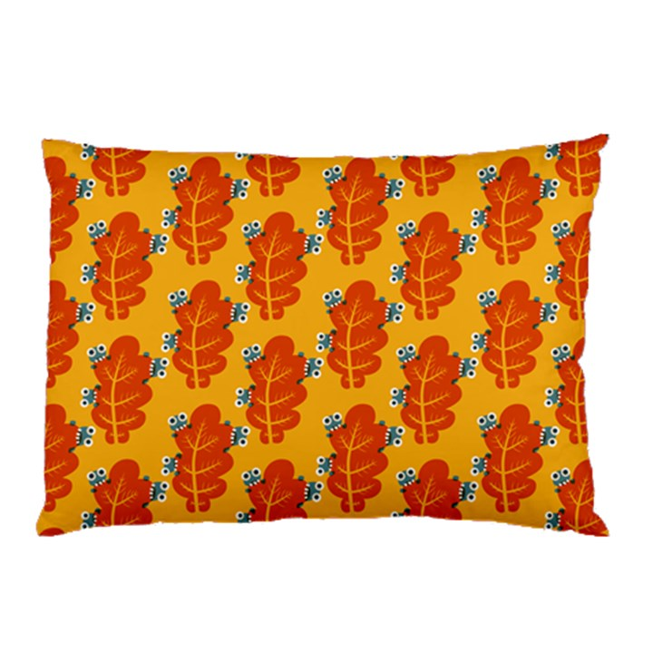 Bugs Eat Autumn Leaf Pattern Pillow Case (Two Sides)