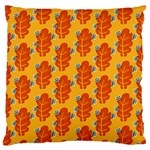 Bugs Eat Autumn Leaf Pattern Large Cushion Case (Two Sides) Front