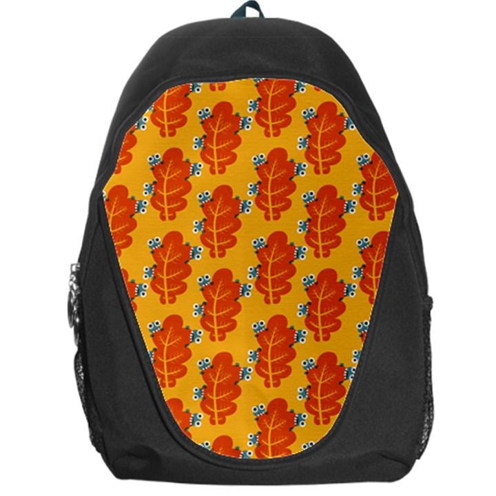 Bugs Eat Autumn Leaf Pattern Backpack Bag
