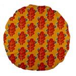 Bugs Eat Autumn Leaf Pattern Large 18  Premium Round Cushions Back