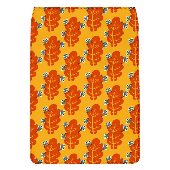 Bugs Eat Autumn Leaf Pattern Flap Covers (L)