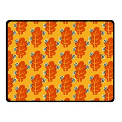 Bugs Eat Autumn Leaf Pattern Double Sided Fleece Blanket (small)  by CreaturesStore