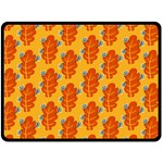 Bugs Eat Autumn Leaf Pattern Double Sided Fleece Blanket (Large)  80 x60 Blanket Front